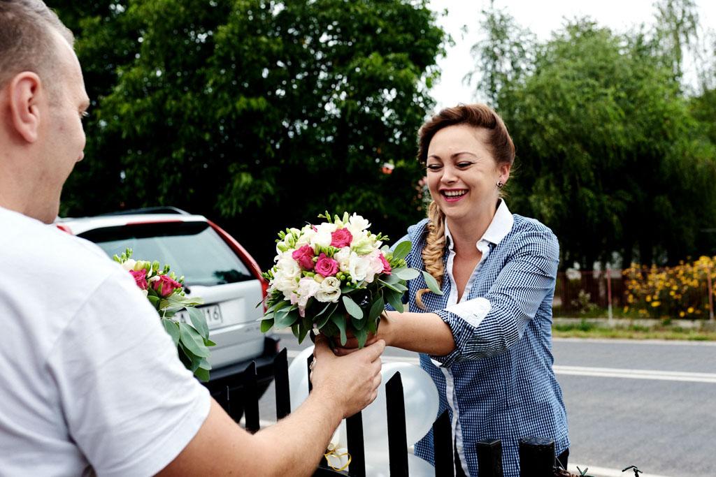 kwiaty ślubne nad Wisłą
